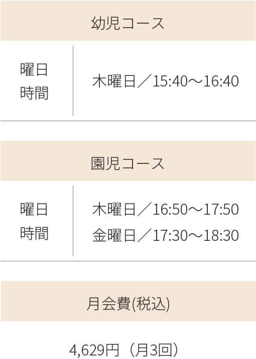 幼児・児童体育コース(月3回)